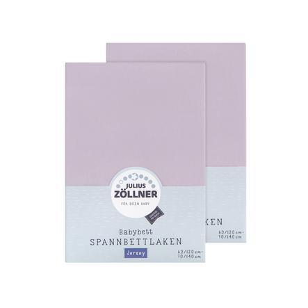 JULIUS ZÖLLNER Muotoiltu lakana tuplasetti, Jersey violetti