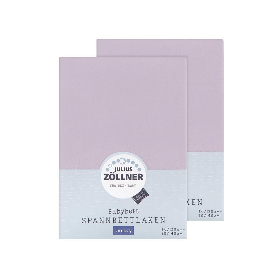 ZÖLLNER Lenzuolo in Jersey con Angoli Elastici pacco doppio Jersey lilla