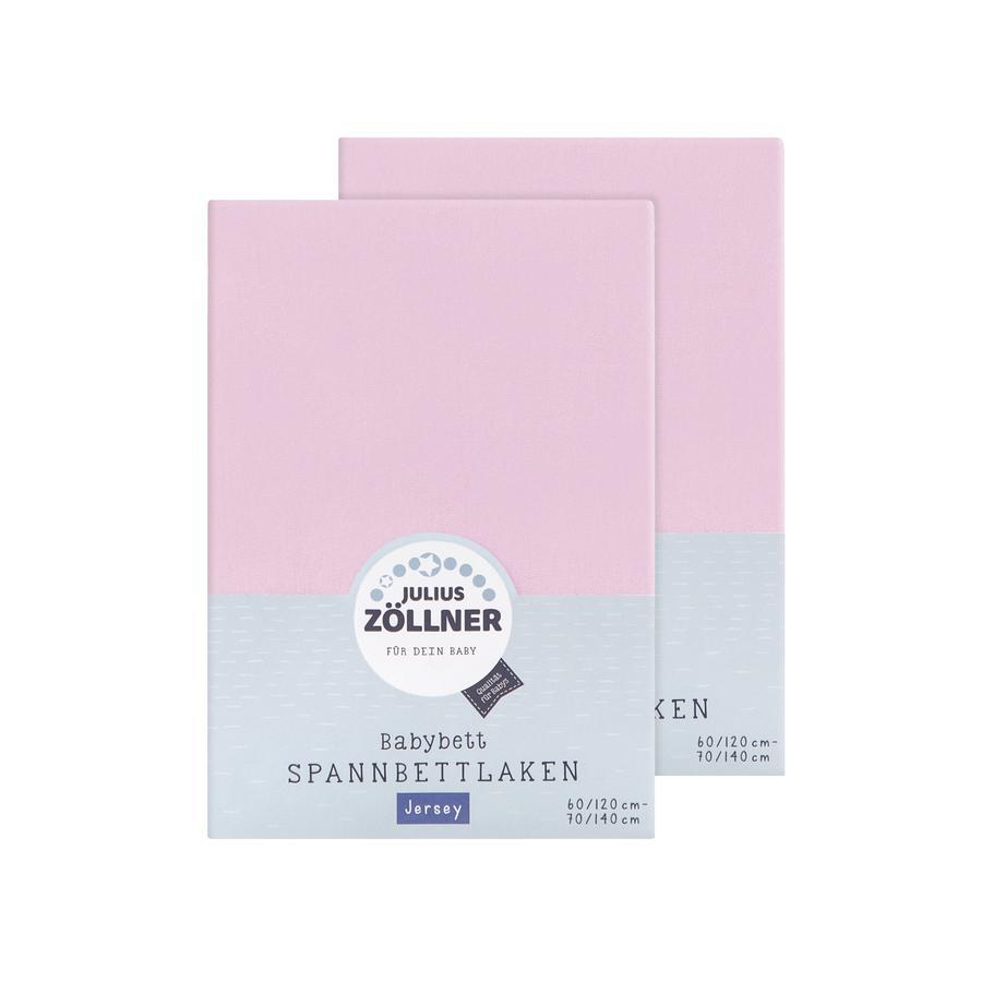 JULIUS ZÖLLNER Lenzuola doppia confezione Jersey rosa