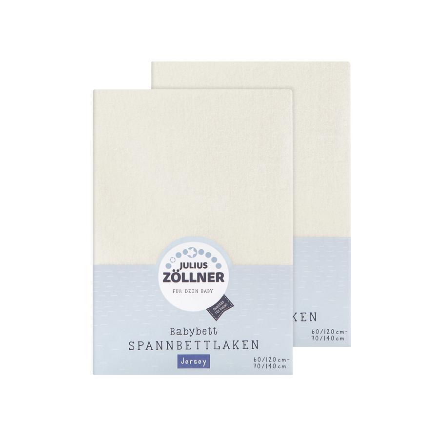 JULIUS ZÖLLNER Dra-på-lakan dubbelpack Jersey beige/vit