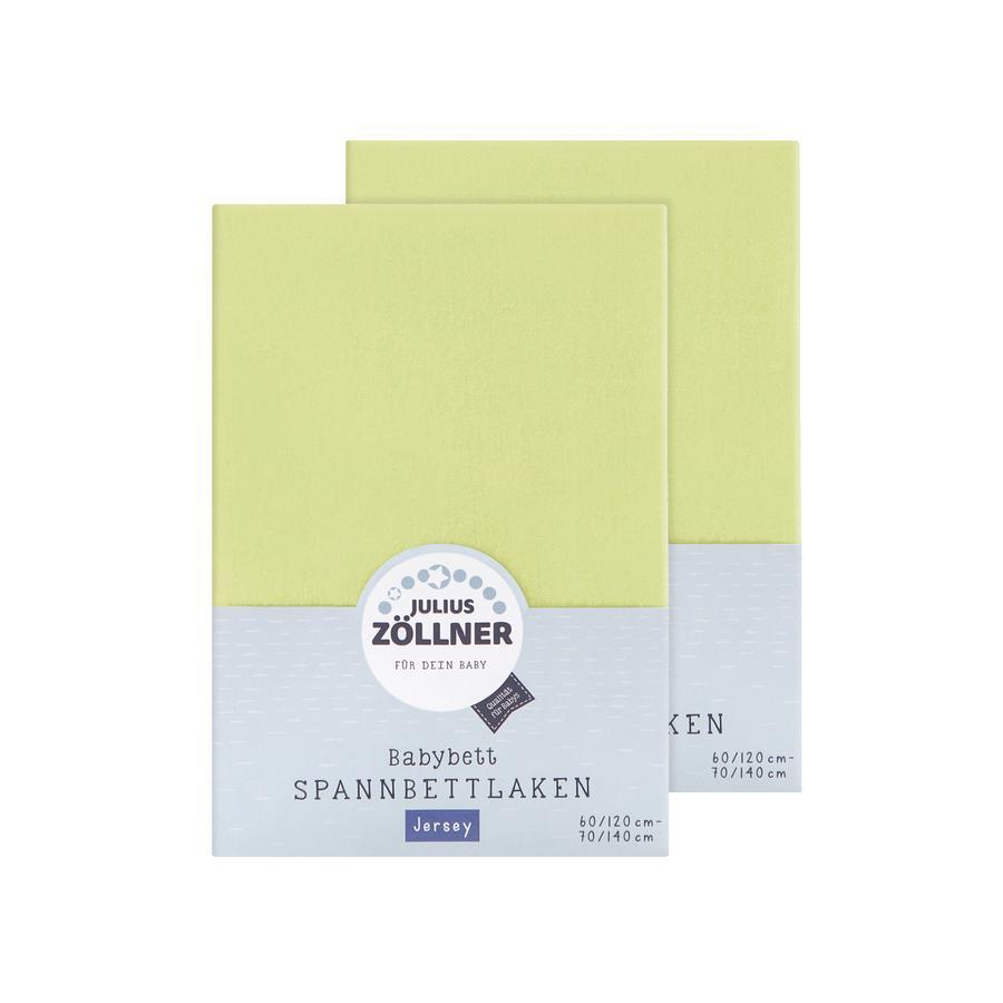 JULIUS ZÖLLNER Spannbetttuch Doppelpack Jersey grün