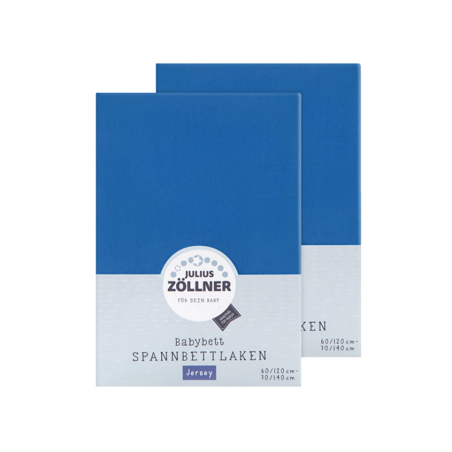 ZÖLLNER Lenzuolo in Jersey con Angoli Elastici pacco doppio Jersey blu royal