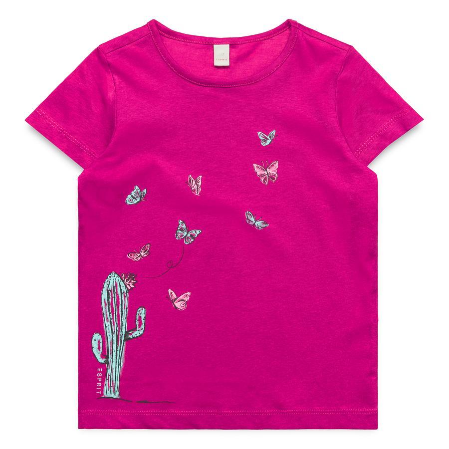 ESPRIT Girls T-Shirt dark fuchsia