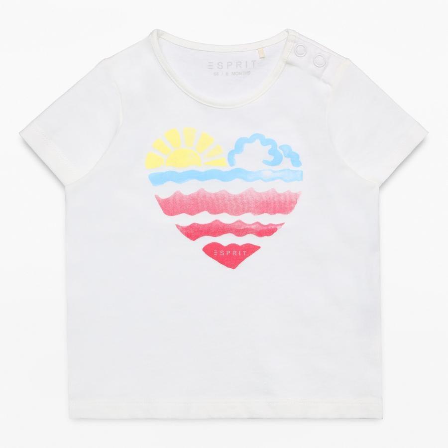 ESPRIT T-skjorte for jenter, hvit