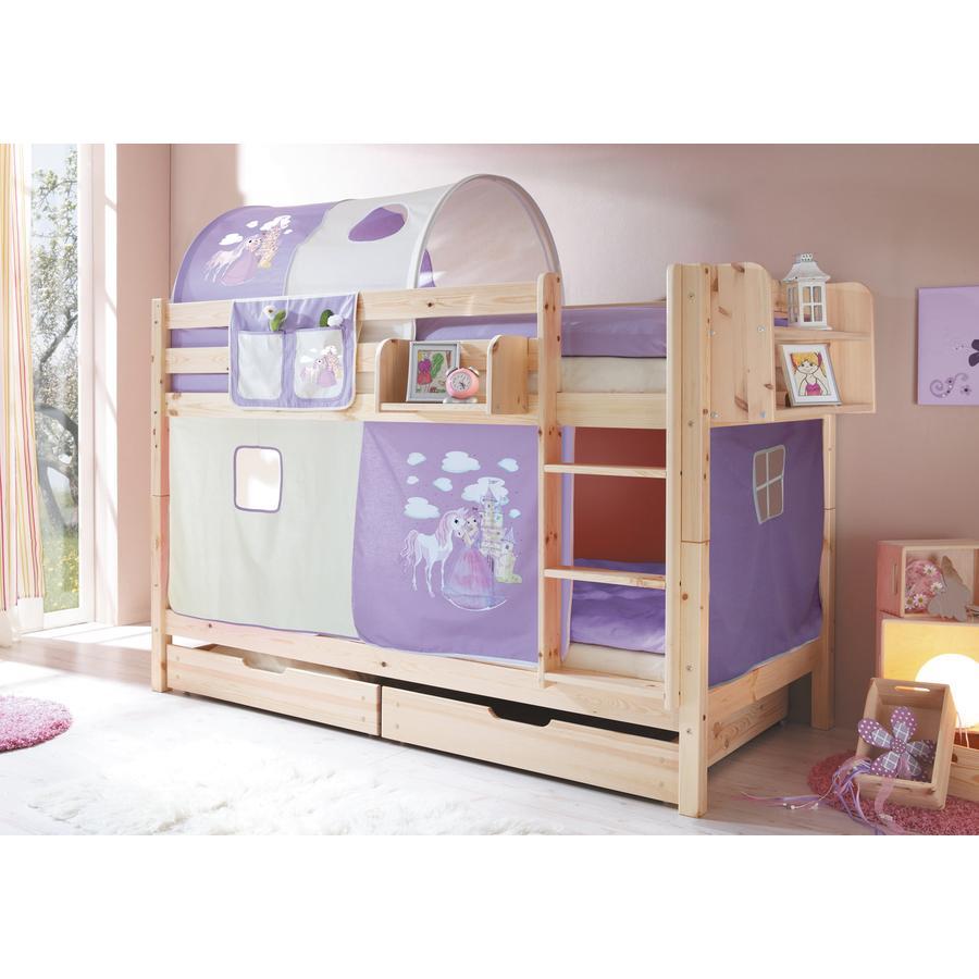TICAA Patrová postel Marcel natur Horse (lila)