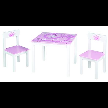 Roba Tavolino e sedioline, corona rosa