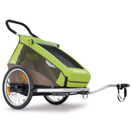 CROOZER Cykelvagn Kid for 1 Meadow Green/ Sand Grey