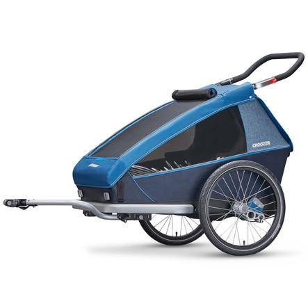 CROOZER Kinderfahrradanhänger Kid Plus for 2 Ocean blue
