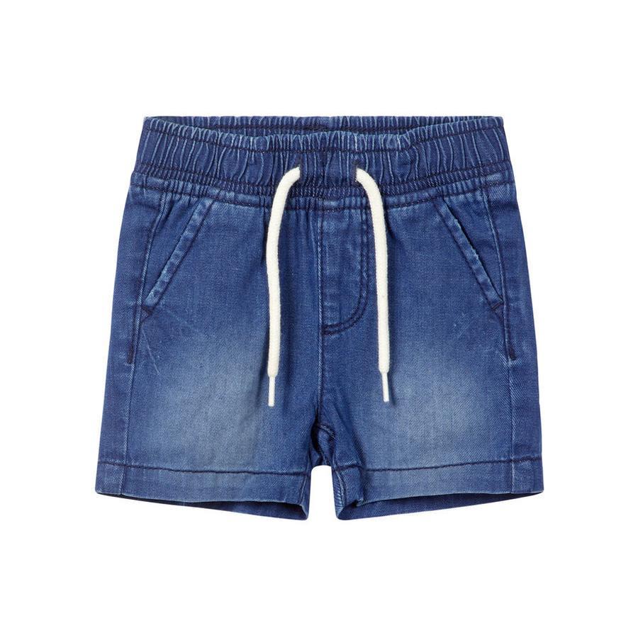 name it Boys Pantaloncini Ryan blu scuro denim