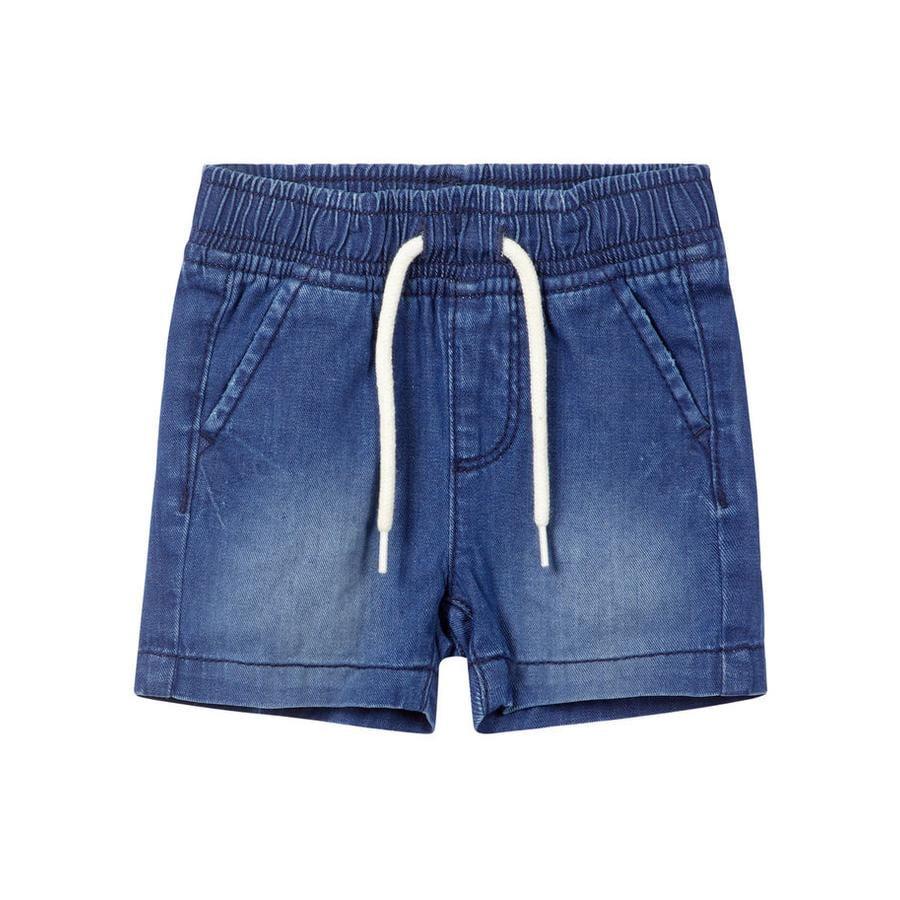 name it Boys Shorts Ryan dark blue denim