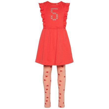 name it Girls Set Leggings und Kleid 2-tlg hibiscus