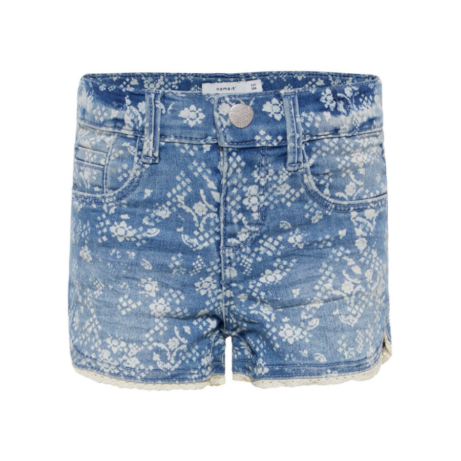 name it Girls Shorts Salli light blue denim