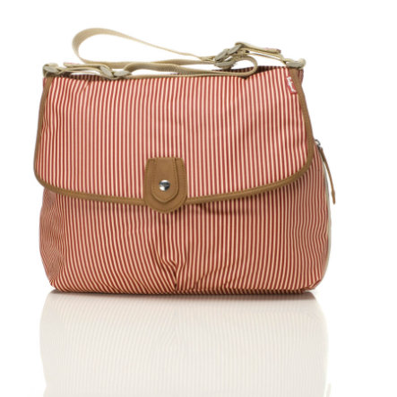 Babymel Wickeltasche Satchel Red Stripe
