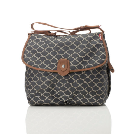 Babymel Wickeltasche Satchel Wave Elephant Grey