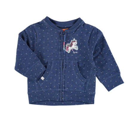 STACCATO Girls Sweatjacke jeans blue structure