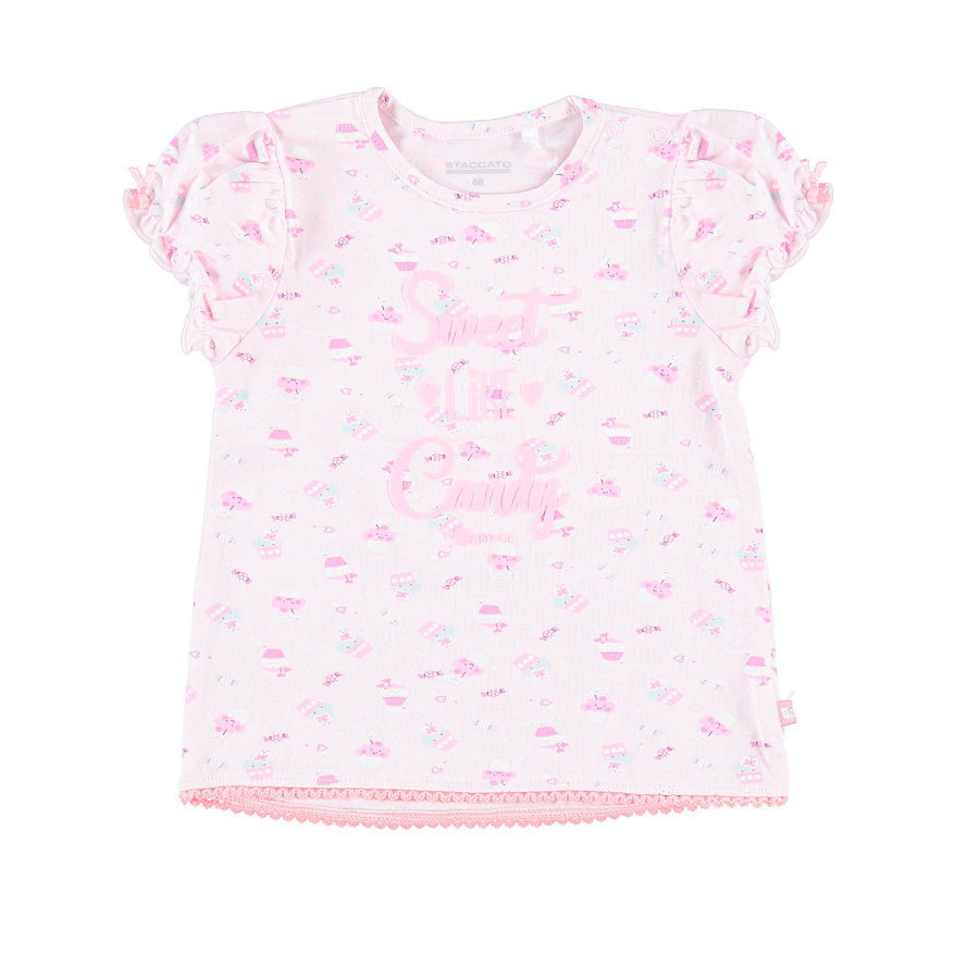 STACCATO T-Shirt rose mit Muster