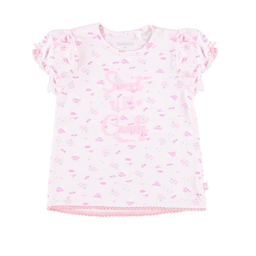 STACCATO T-skjorte rose med mønster