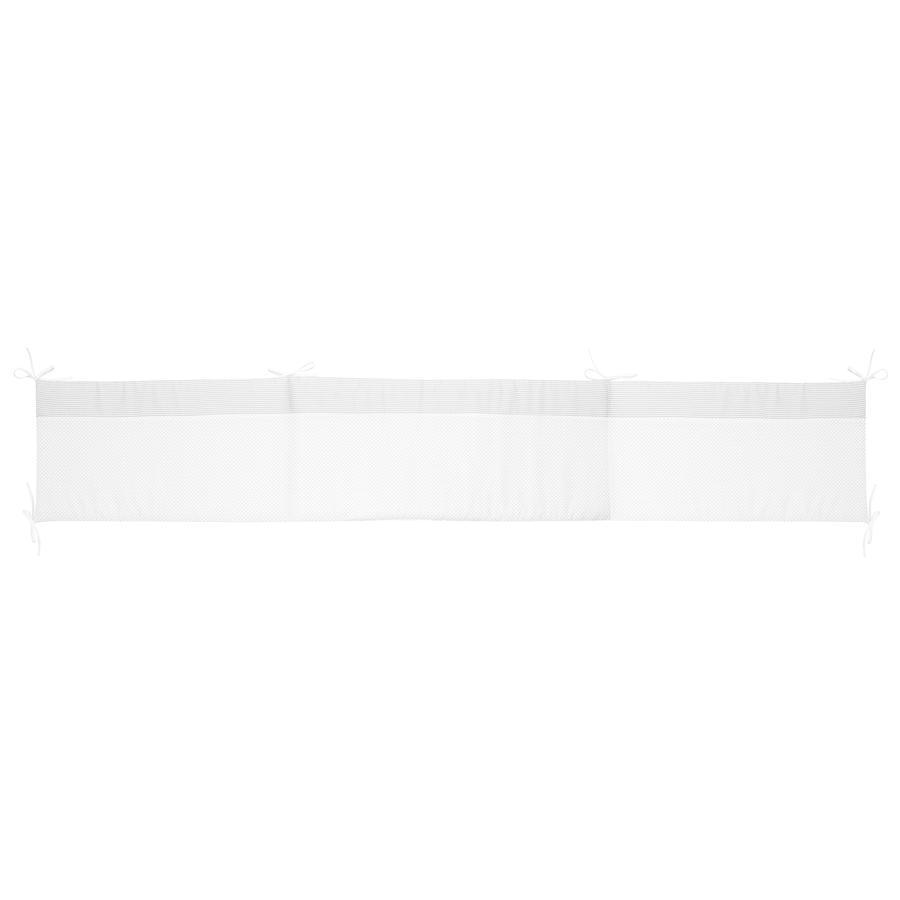 Alvi Protector acolchado Standard 180 cm, Little Dots gris