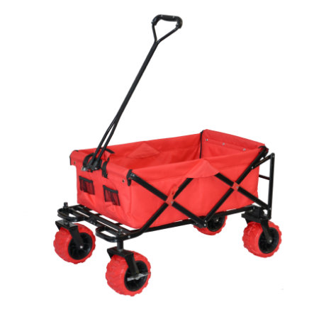 XTREM Toys and Sports Chariot de transport à main pliable Cross-Rover, rouge
