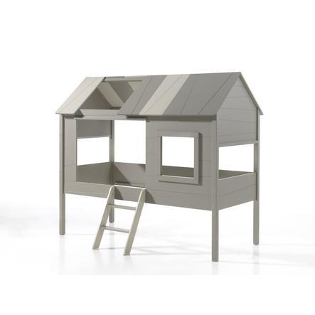 VIPACK Dětská postel domeček Charlotte šedá