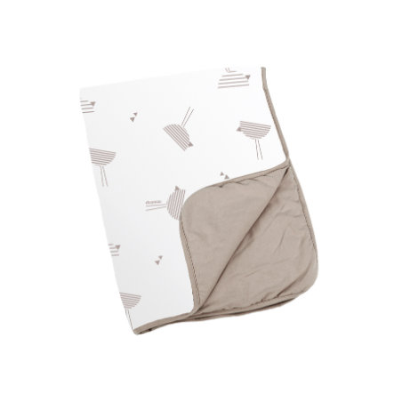 Doomoo Dream Couverture bébé Birds taupe 75x100 cm