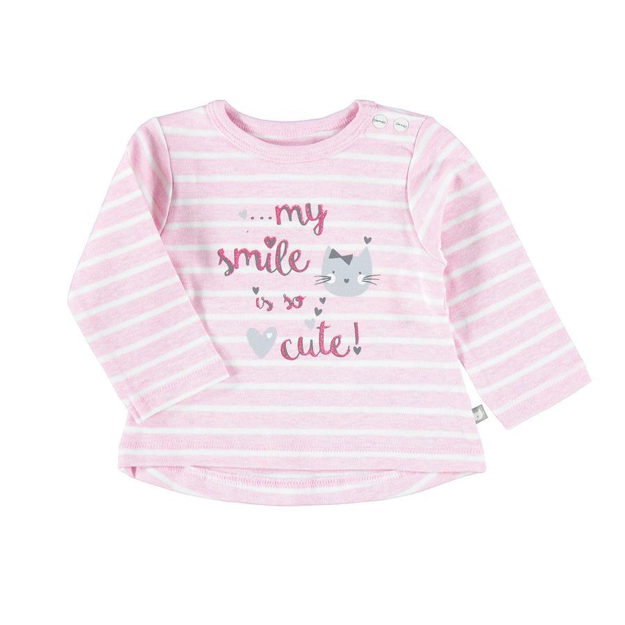 STACCATO Girl s overhemd met lange mouwen, roze gemêleerde strepen