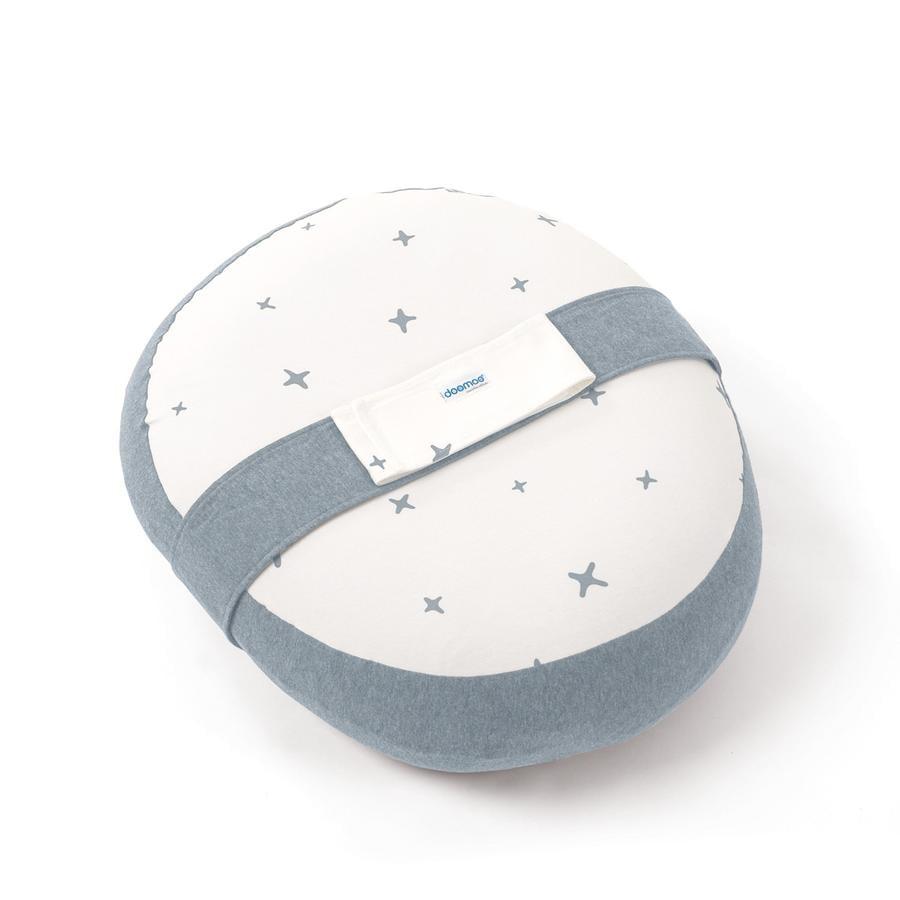 Doomoo Cojín de lactancia Relax Funda de Estrellas, gris-azul