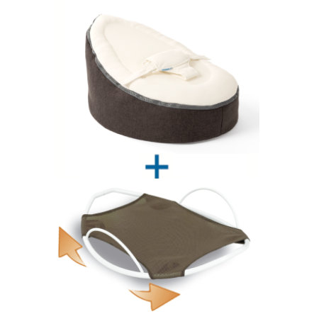 Doomoo Seat Set Sitzsack + Swing Wippe Home anthrazit