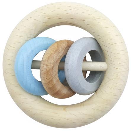 HESS kulaté chrastítko 3 kroužky modré