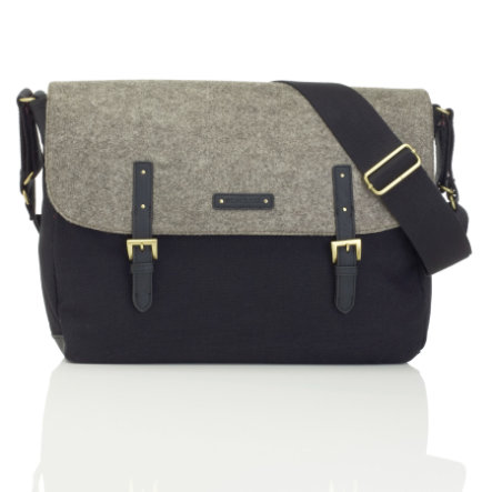 storksak Wickeltasche Ashley Felt Back/Grey