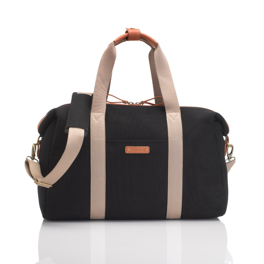 storksak Wickeltasche Bailey Black