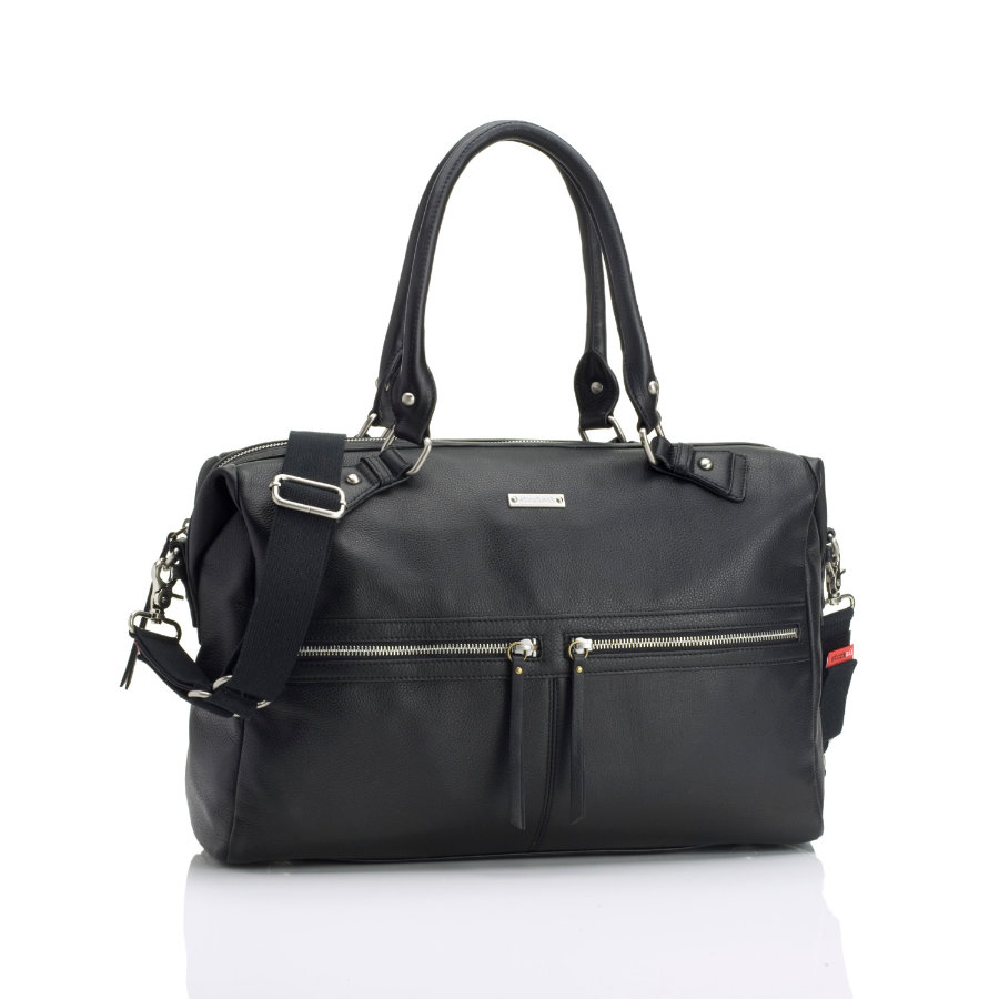 storksak borsa fasciatoio Caroline Leather Black