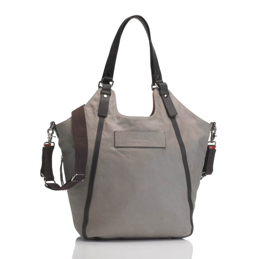 storksak Wickeltasche Ellena Leather Taupe