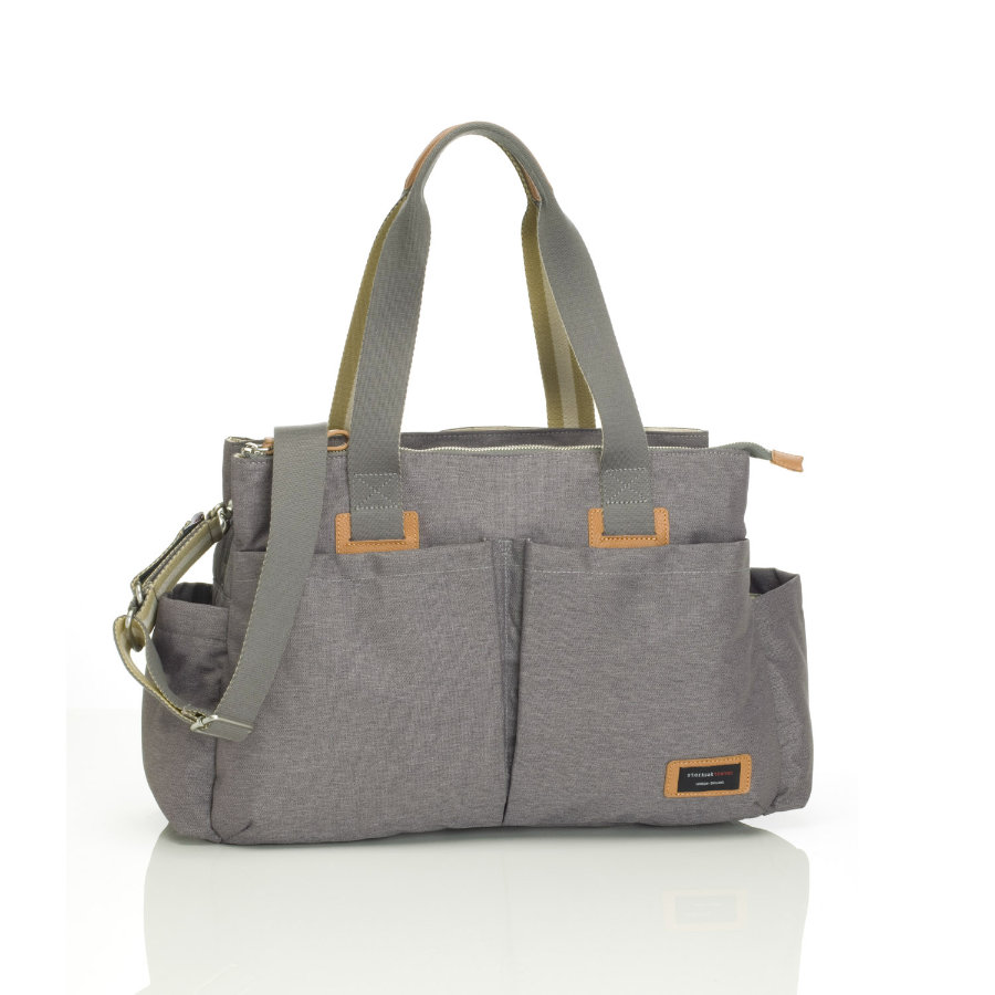 storksak Wickeltasche Shoulder Bag Grey