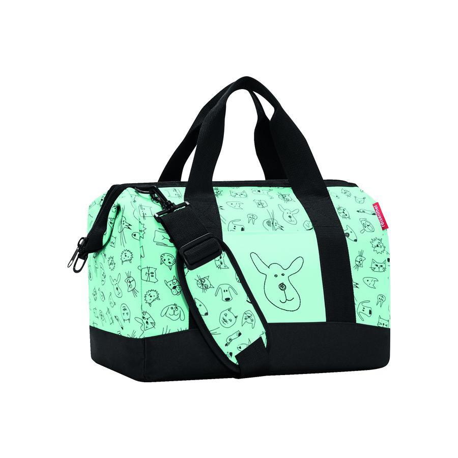 reisenthel Cestovní taška allrounder M kids cats and dogs mint