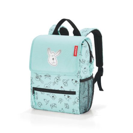 reisenthel® backpack kids cats and dogs mint
