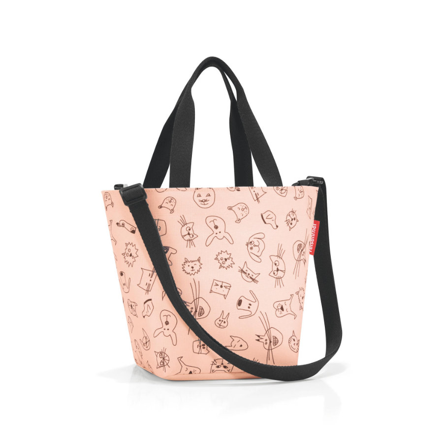 reisenthel® shopper XS kids cats and dogs rosa