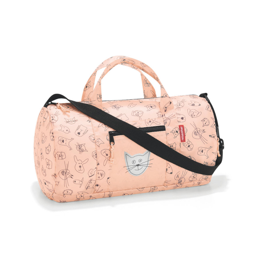 reisenthel® mini maxi dufflebag S kids cats and dogs rosa