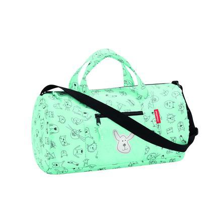 0364f3be372 reisenthel® mini maxi dufflebag S kids cats and dogs mint | pinkorblue.nl