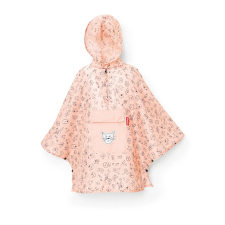 reisenthel® mini maxi poncho M kids cats and dogs rose