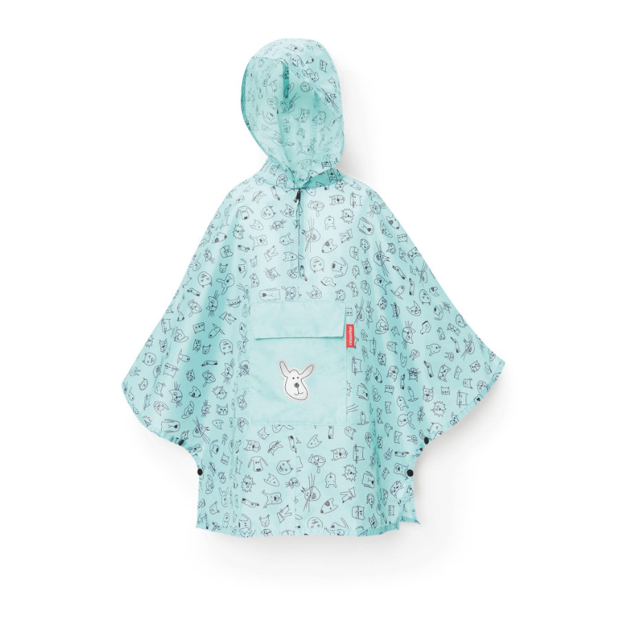 reisenthel® mini maxi poncho M kids cats and dogs mint