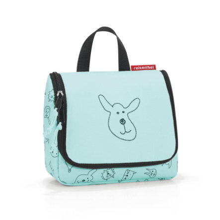 reisenthel® toiletbag S kids cats and dogs mint