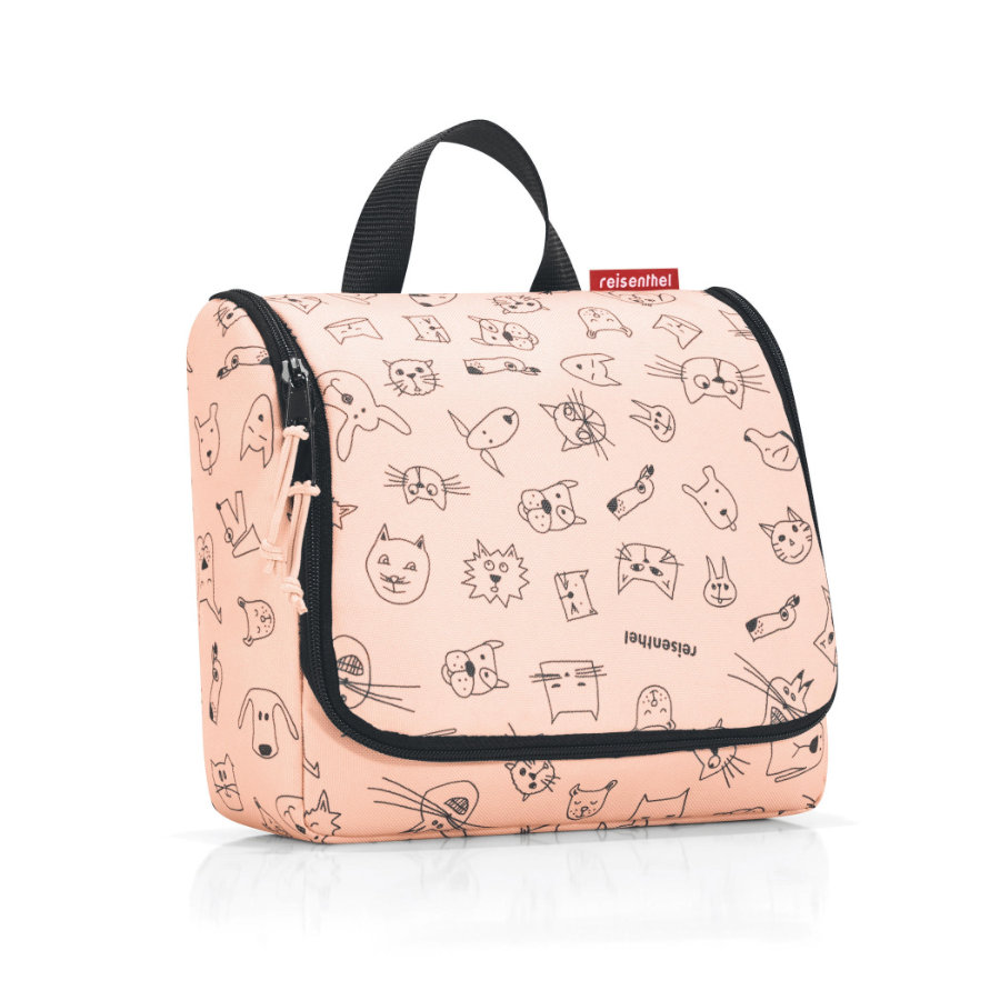 reisenthel® toiletbag kids cats and dogs roze