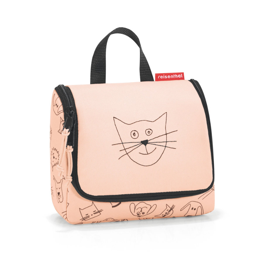 reisenthel® toiletbag S kids cats and dogs roze