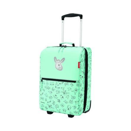 Dětská taška na kolečkách Reisenthel Trolley XS kids Cats and dogs mint