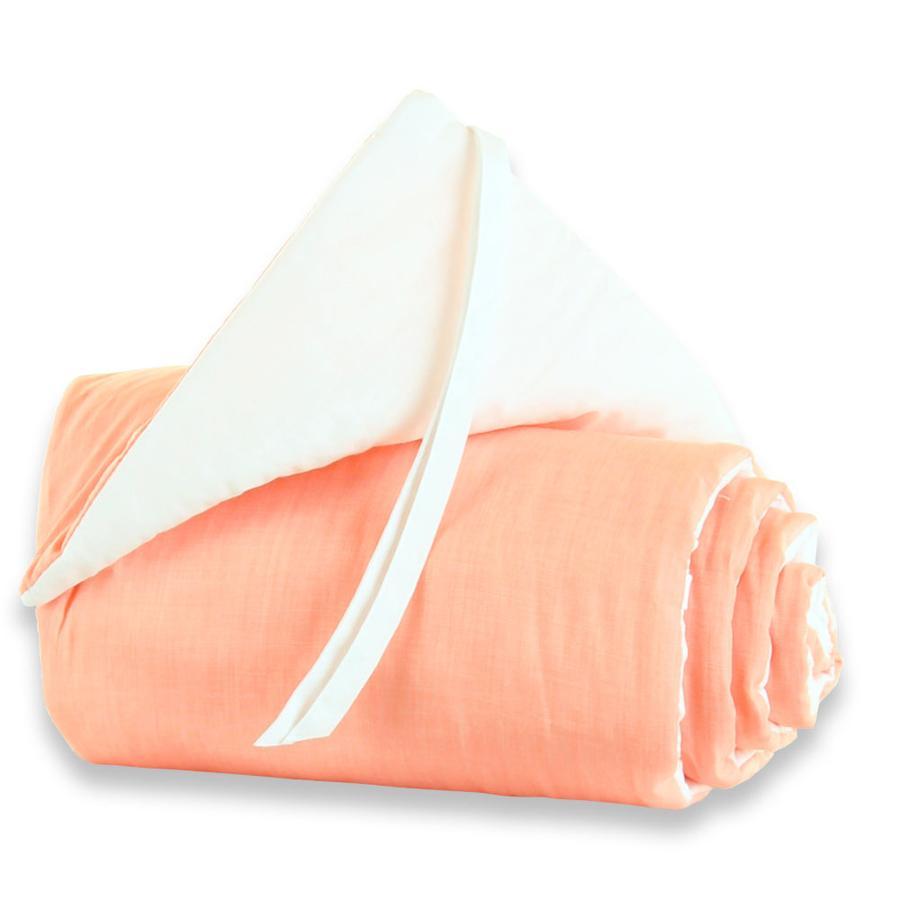 TOBI BABYBAY Original Hnízdo do postýlky - oranžovo-bílé