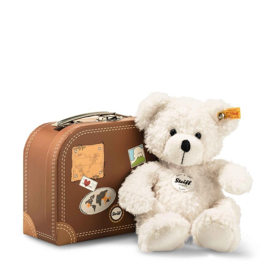 STEIFF Ours Teddy Lotte 28 cm blanc dans sa valise
