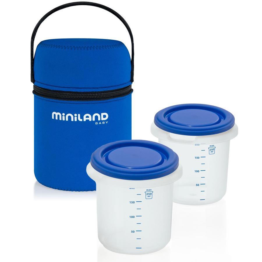 MINILAND Sac isotherme Pack-2-go hermisized avec 2 conteneurs