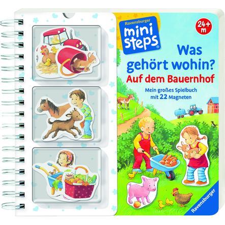 Ravensburger ministeps® - Spielbuch - Was gehört wohin?: Auf dem Bauernhof