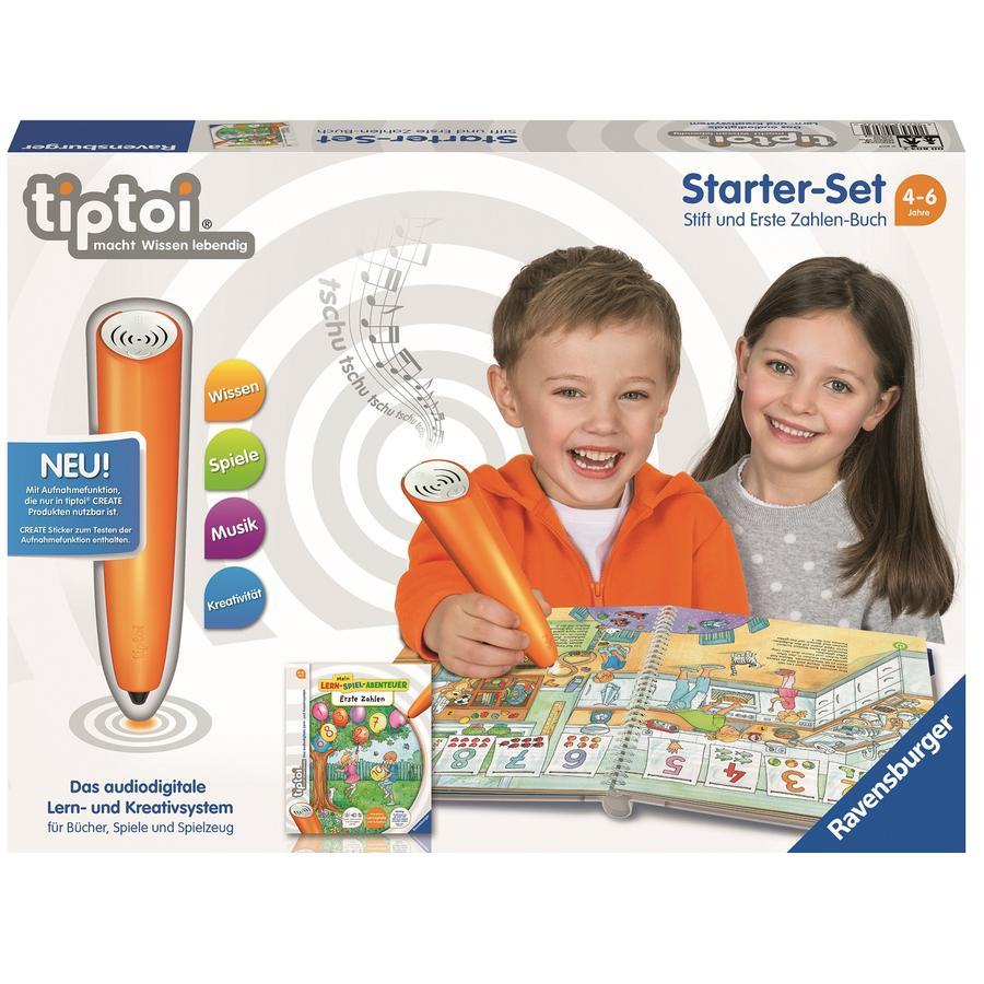 Ravensburger tiptoi® 3 Zestaw startowy: pióro i gra edukacyjna Przygoda: zdobywanie numerów